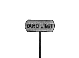 PRR Yard Limit Sign